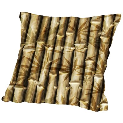 Bamboo Nature Cotton Throw Pillow Size: 14 H x 14 W x 2 D