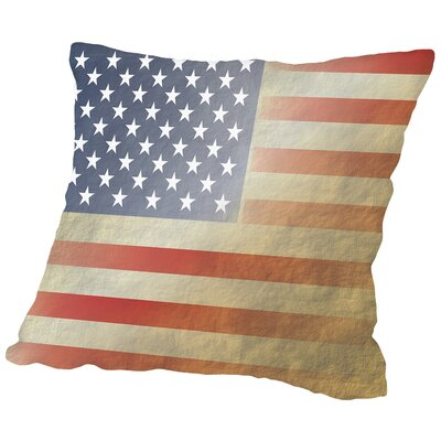 Flag 3 Cotton Throw Pillow Size: 18 H x 18 W x 2 D