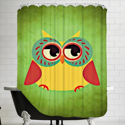 Owl Modern Bird Shower Curtain