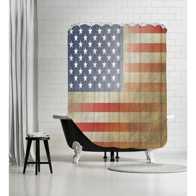 Flag 3 Shower Curtain