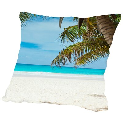 Beach Holiday Travel Style Throw Pillow Size: 14 H x 14 W x 2 D