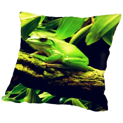 Wildlife Frog Animal Throw Pillow Size: 14 H x 14 W x 2 D