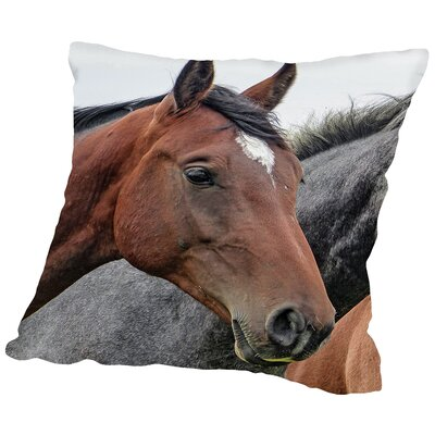 Horse Animal Farm Wildlife Throw Pillow Size: 14 H x 14 W x 2 D