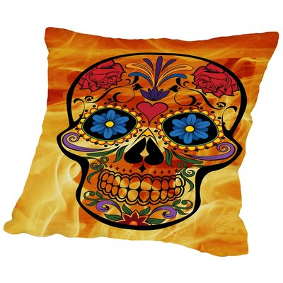 Horror Skull Halloween Throw Pillow Size: 14 H x 14 W x 2 D