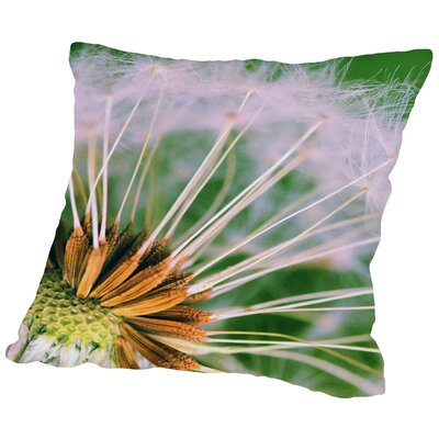Dandelion Flower Throw Pillow Size: 16 H x 16 W x 2 D