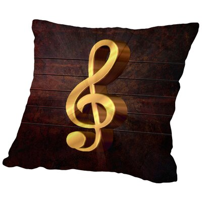 Music Clef Style Musically Throw Pillow Size: 20 H x 20 W x 2 D