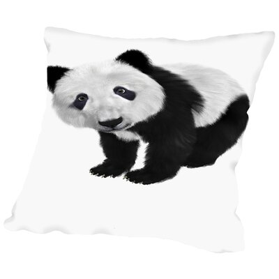 Panda Bear Animal Throw Pillow Size: 16 H x 16 W x 2 D