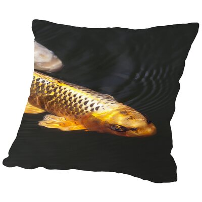 Orange Koi Fish Style Throw Pillow Size: 20 H x 20 W x 2 D