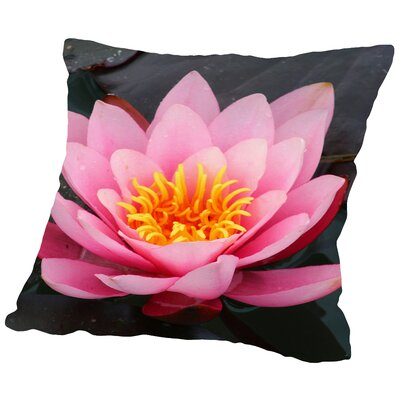 Asia Lotus Flower Throw Pillow Size: 14 H x 14 W x 2 D