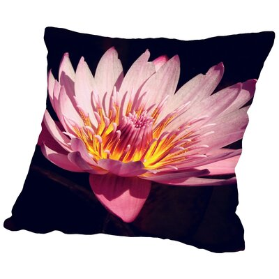Lotus Flower Throw Pillow Size: 14 H x 14 W x 2 D