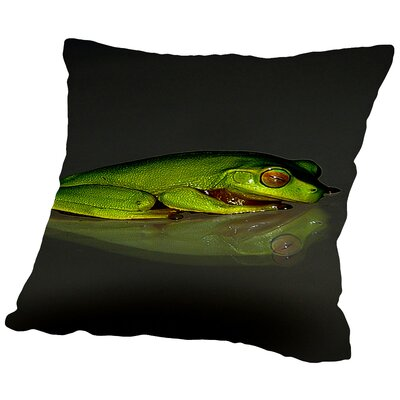 Reptile Frog Throw Pillow Size: 14 H x 14 W x 2 D