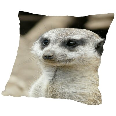 Mammal Africa Animal Throw Pillow Size: 18 H x 18 W x 2 D