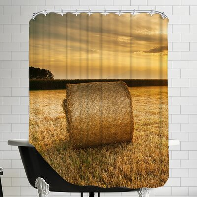 Hay Landscape Sun Nature Shower Curtain