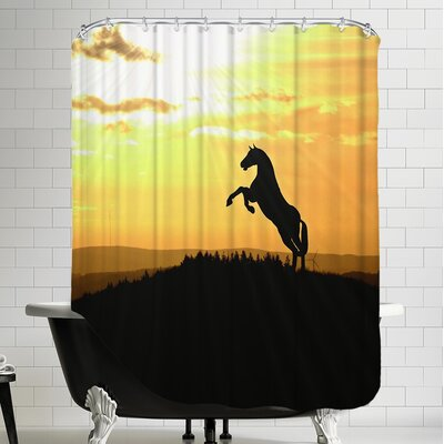 Horse Animal Farm Sunset Shower Curtain