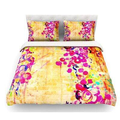 Wall Flowers by Ebi Emporium Featherweight Duvet Cover Size: King