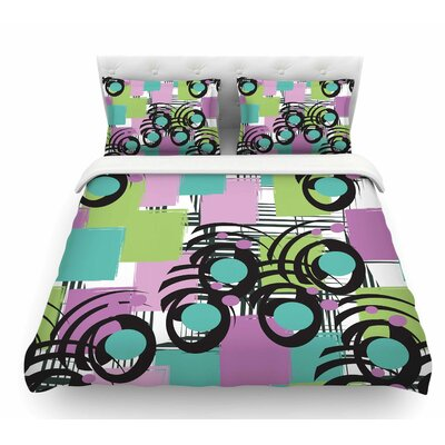 Solfege by Chickaprint Featherweight Duvet Cover Size: Twin