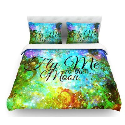 Fly Me to the Moon by Ebi Emporium Featherweight Duvet Cover Size: Twin