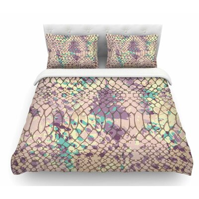 Snakeskin by Chickaprint Featherweight Duvet Cover Size: Twin