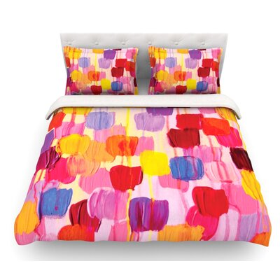 Dotty by Ebi Emporium Featherweight Duvet Cover Size: Twin