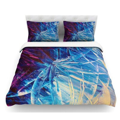 Night Flowers by Ebi Emporium Featherweight Duvet Cover Size: King, Fabric: Lightweight Polyester