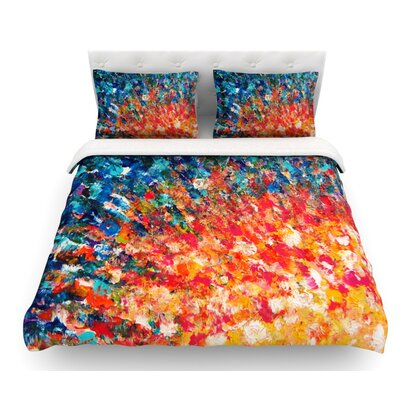 The Clash by Ebi Emporium Featherweight Duvet Cover Size: Queen