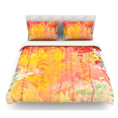 Sun Showers by Ebi Emporium Featherweight Duvet Cover Size: Twin