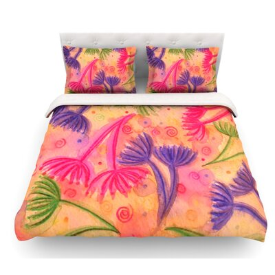 Cow Parsley by Ebi Emporium Featherweight Duvet Cover Size: Queen