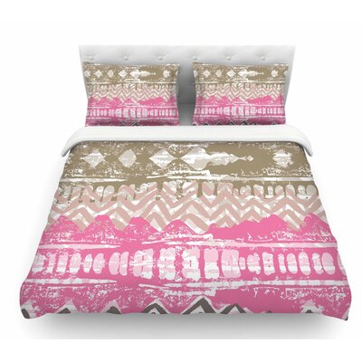 Allegro by Chickaprint Featherweight Duvet Cover Size: Queen