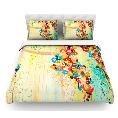 Summer in Bloom by Ebi Emporium Featherweight Duvet Cover Size: Twin