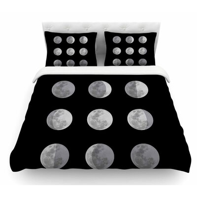 Lunar OCD by Jackie Rose Featherweight Duvet Cover Size: Queen