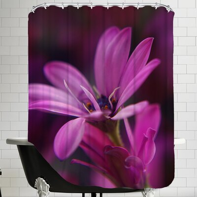 Macro Flower Blossom Shower Curtain