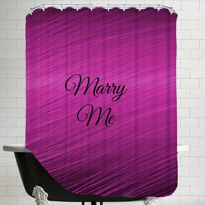 Marry Me Wedding Shower Curtain