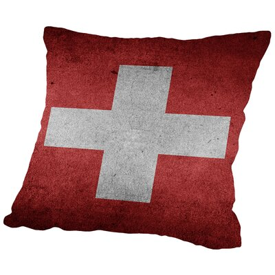 Switzerland Flag Throw Pillow Size: 18 H x 18 W x 2 D