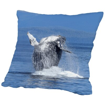 Whale Fish Sealife Ocean Throw Pillow Size: 16 H x 16 W x 2 D