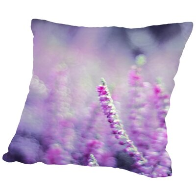 Flower Bloom Nature Throw Pillow Size: 16 H x 16 W x 2 D