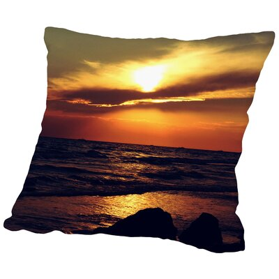 Sunset Turkey Side Throw Pillow Size: 18 H x 18 W x 2 D