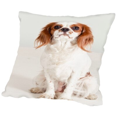 Portrait Dog Animal Throw Pillow Size: 16 H x 16 W x 2 D