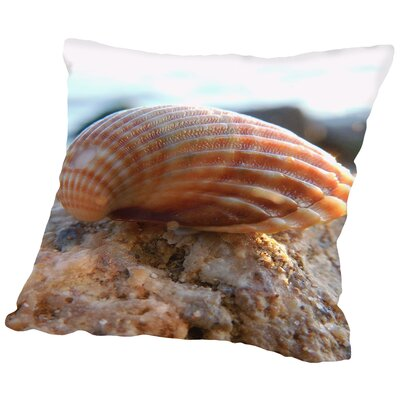 Sea Shell Throw Pillow Size: 18 H x 18 W x 2 D