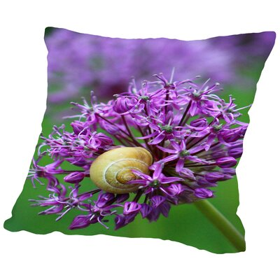 Allium Flower Throw Pillow Size: 16 H x 16 W x 2 D