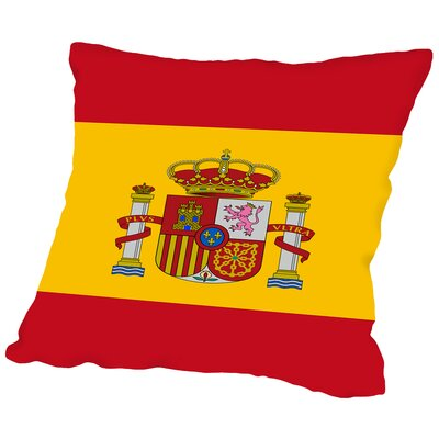 Spain Flag Throw Pillow Size: 16 H x 16 W x 2 D
