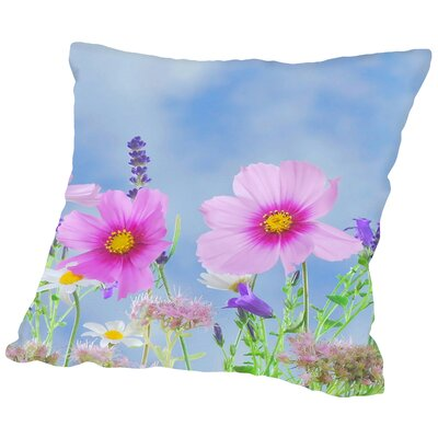 Wild Flowers Nature Field Throw Pillow Size: 18 H x 18 W x 2 D