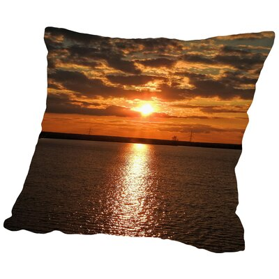 Sunrise Throw Pillow Size: 14 H x 14 W x 2 D