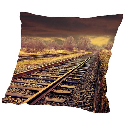Railway Travel Nature Throw Pillow Size: 14 H x 14 W x 2 D