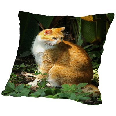 Animal Nature Throw Pillow Size: 14 H x 14 W x 2 D