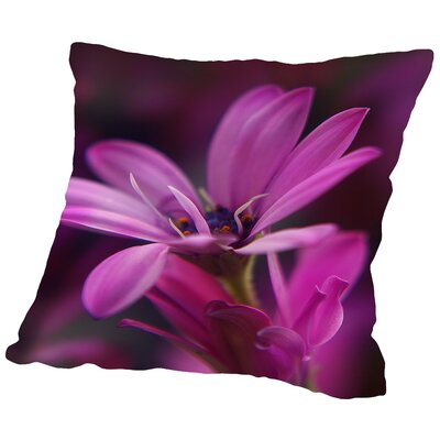 Macro Flower Blossom Throw Pillow Size: 16 H x 16 W x 2 D