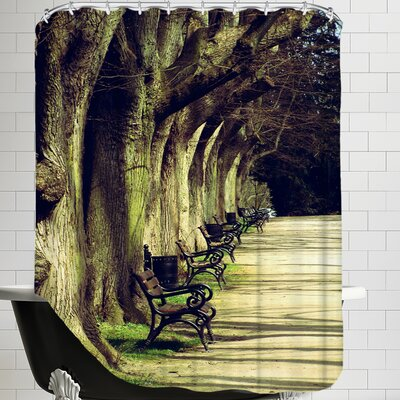 Tree Avenue Landscape Shower Curtain
