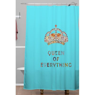 Bianca Green Queen Of Everything Polyester Shower Curtain
