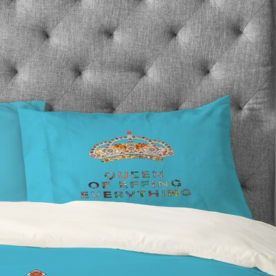 Bianca Green Her Daily Motivation Pillowcase Size: King, Color: Pink