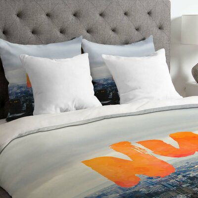 NYC Skyline Lightweight Duvet Cover Size: Queen