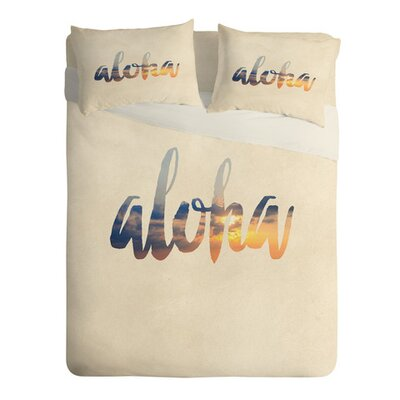 Aloha Hawaii Lightweight Duvet Cover Size: Twin/Twin XL